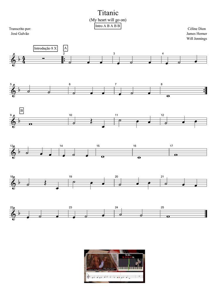 Titanic - My heart will go on - Partitura para flauta                                                                                                                                                                                 Mais