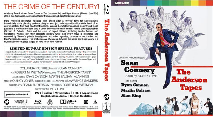 The Anderson Tapes Custom Blu-ray Cover