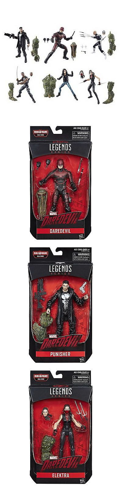 Comic Book Heroes 158671: Set Of 6: 2017 Marvel Legends Netflix Marvel Knights Man-Thing Build A Figure -> BUY IT NOW ONLY: $129.99 on eBay!