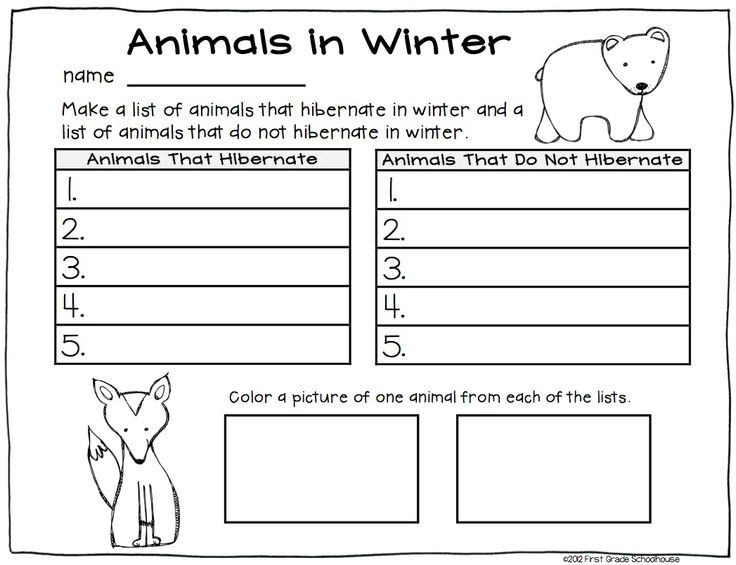 Number Names Worksheets winter worksheets for first grade Free – Winter Worksheets for First Grade