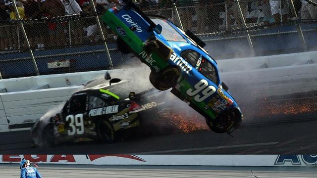 Carl Edwards Real-Life Talladega Nights NASCAR Crash: Video, Gallery