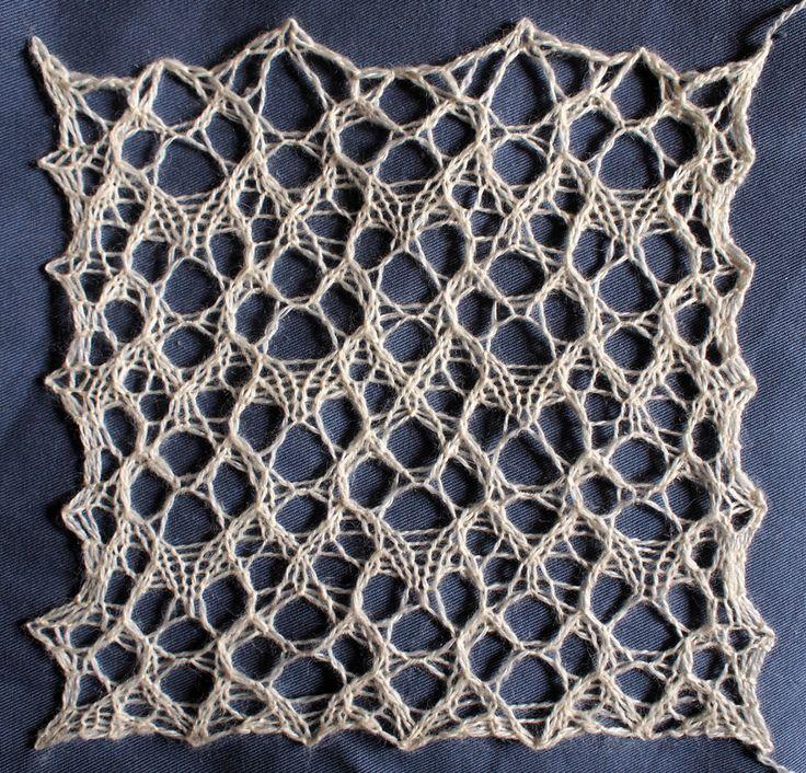 Folio: a free lace knitting stitch pattern