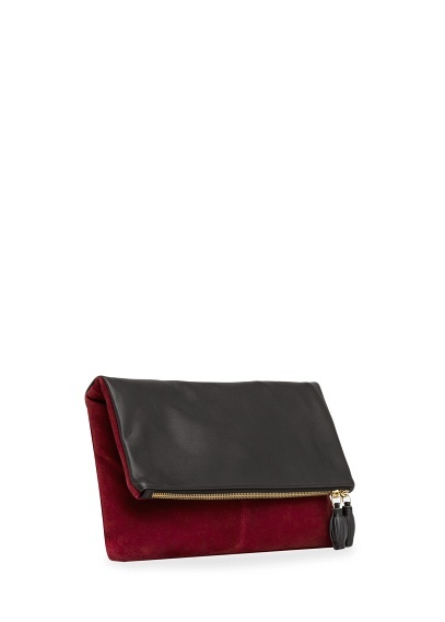 Leather Statement Clutch - Said Too Much by VIDA VIDA