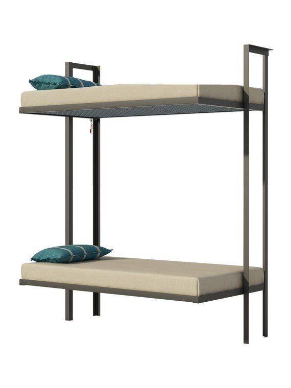Folding Bunk Bed Plans Diy Bedroom Furniture Kids Adult Children