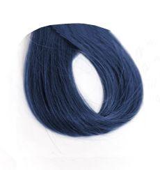 Imagen muestra de cabello azul oscuro