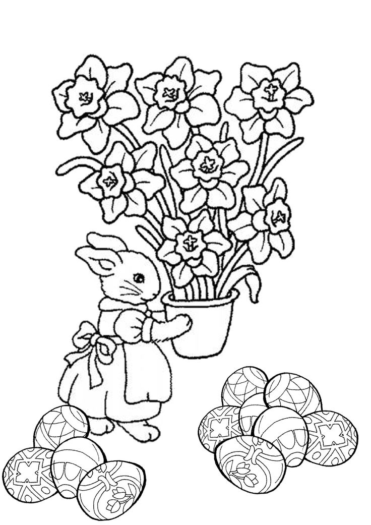 201 Best Images About Coloring Pages Easter On Pinterest