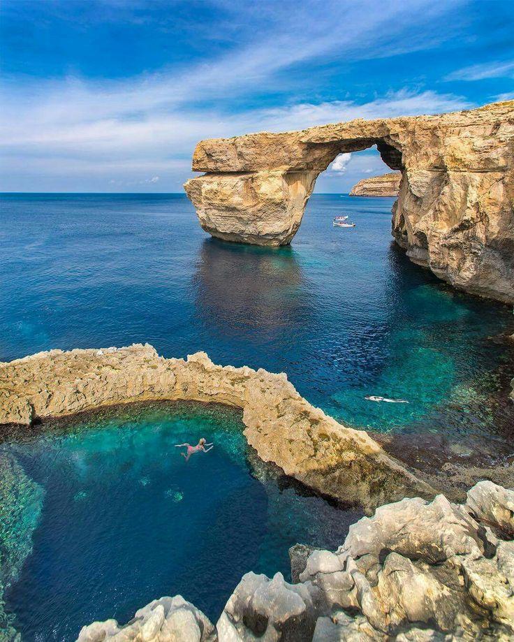 Azure Window, Gozo Island Malta. : Kyrenian | IG: @www. kyrenian com - (Europe)