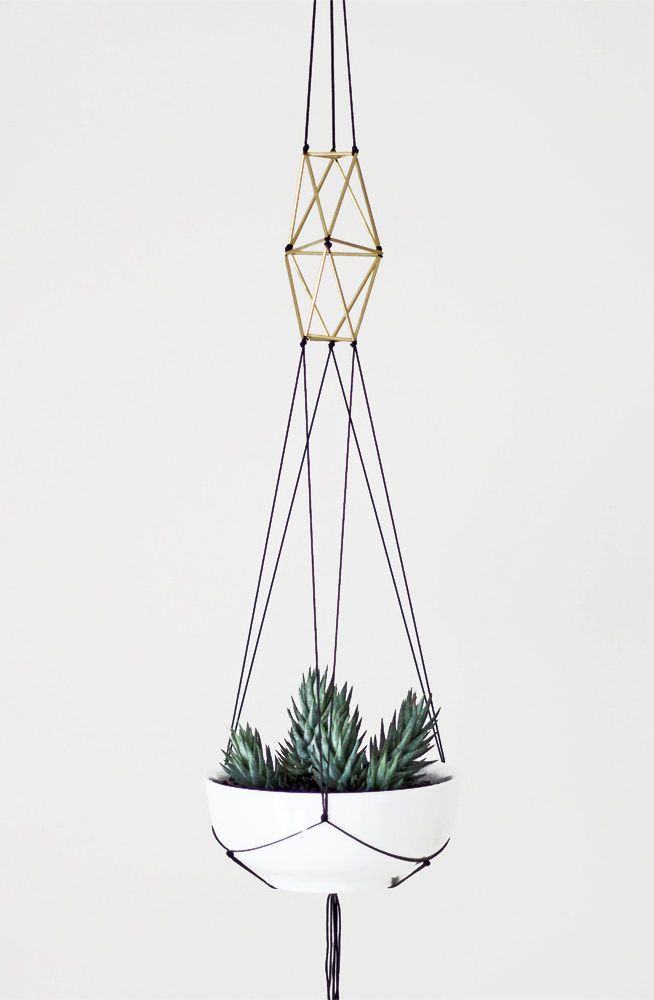 modern macrame plant hanger #products