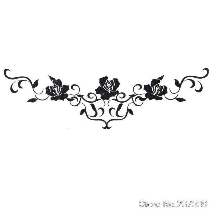 Lace Flower Tattoo | waterproof tattoo stickers waterproof male female lace flower bracelet ...