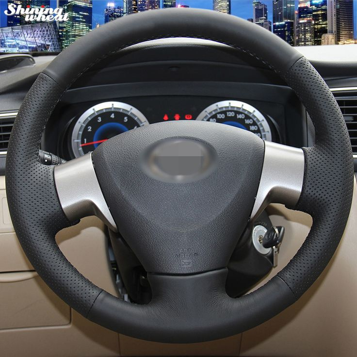 Compare Price Shining wheat Hand-stitched Black Leather Steering Wheel Cover for Toyota Corolla 2006-2010 Toyota Corolla EX #Shining #wheat #Hand-stitched #Black #Leather #Steering #Wheel #Cover #Toyota #Corolla #2006-2010