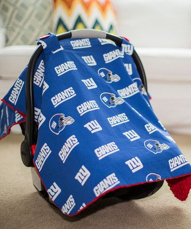 Loving this New York Giants Car Seat Canopy on #zulily! #zulilyfinds