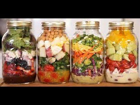 Como Fazer : Salada no Pote de Vidro - YouTube
