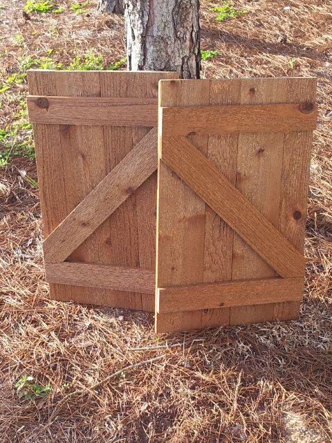 Rustic Rough Cut Cedar Barn Door Shutters Made To By
