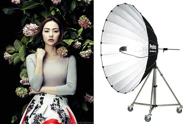 Giant Parabolic Umbrella Top 10 Fashion Photography Lighting Tools | Zhang Jingna - Fashion, Fine Art, Beauty, Commercial Photography Blog