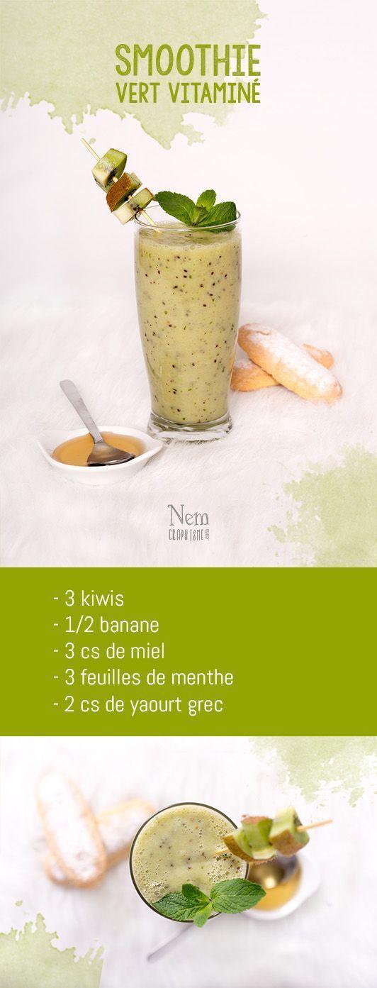 Mes 5 smoothies colorés - vert: