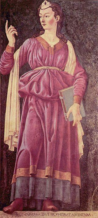Andrea del Castagno  - la Sibilla Cumana, che veniva assimilata ai profeti dell'Antico Testamento