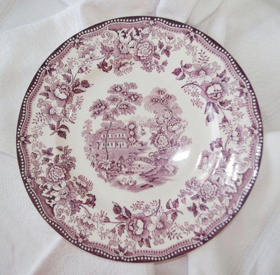 1940s Royal Staffordshire Quot Tonquin Quot Purple Plum