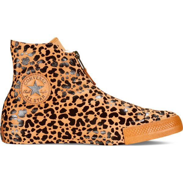 Converse Chuck Taylor All Star Shroud Animal Print – brown Sneakers ($60) ❤ liked on Polyvore featuring shoes, sneakers, brown, animal print shoes, leather hi top sneakers, leather sneakers, brown leather shoes and brown leather high tops