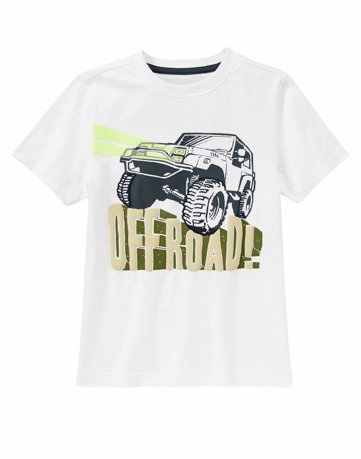 June 2014: Branson(4) and Kaden(10): Off Road Jeep Tee at Gymboree