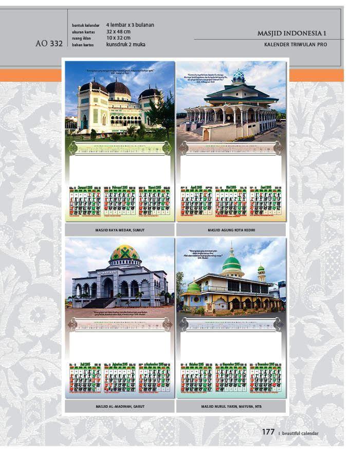 Kalender 2015 AO - Triwulan 3 Bulanan - Free Download Jpg Thumbnails Quality Preview - Tema Foto Gambar Masjid di Indonesia