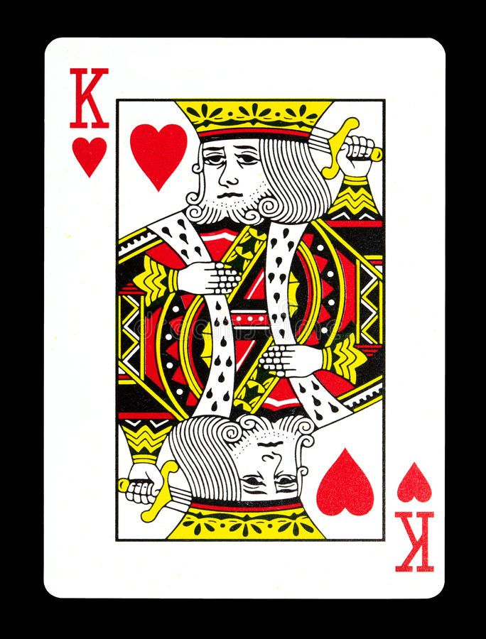 King Of Hearts Playing Card Isolated On Black Background Ad Playing Hearts King Card Hearts Playing Cards Playing Card Tattoos Playing Cards Art