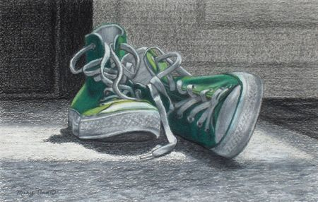 Resting (charcoal and pastel on cold-pressed multimedia paper, 11×17) by Mary Ann Pals; click the image to read Mary Ann's three styles of art combining charcoal and pastels. ~ch