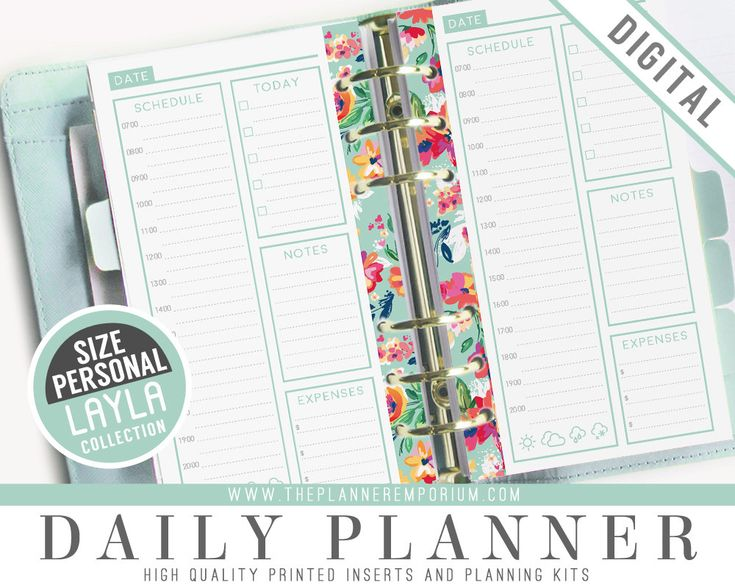 Personal Daily Planner Inserts - LAYLA Collection - Fits Kikki K Medium Filofax Personal Printable Pages - Undated - Retro Vintage Designs (3.99 CAD) by ThePlannerEmporium