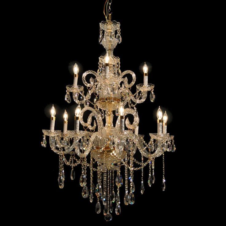 victorian design gold or chrome chandelier with european or swarovski crystal sku