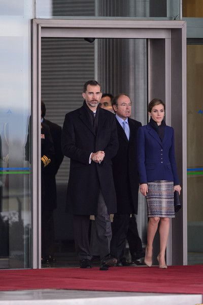 Noblesse et Royautés:  King Felipe and Queen Letizia leave for their state visit to France, March 24, 2015; that visit was cancelled upon their arrival in Paris after the news of the Germanwings air crash in the French Alps.