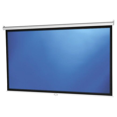 """Projecta - Model B 106"""" Pull-Down Projector Screen - White - Larger Front"""