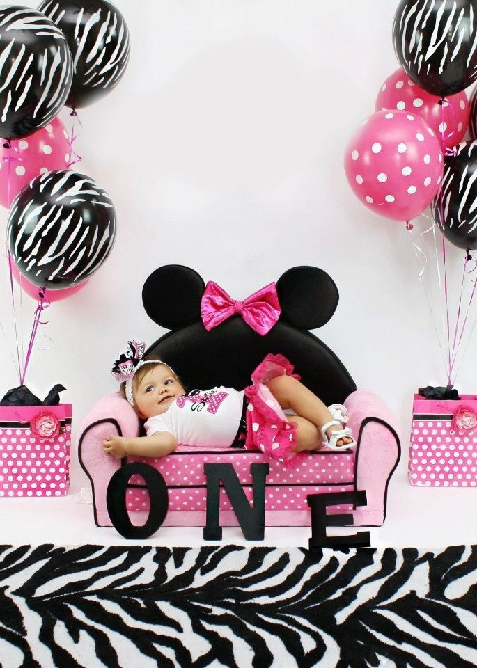 She cute, she's sweet, and lots of fun our Sadie Elizabeth is turing ONE!! Minnie Mouse and zebra  1st birthday