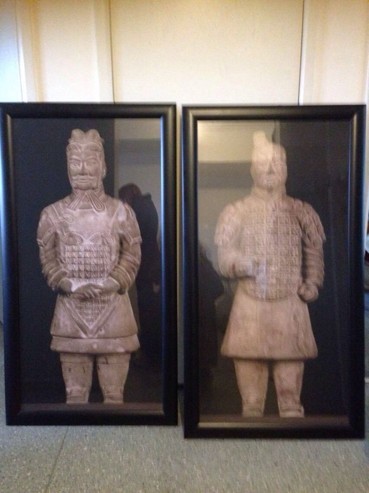 "Collectors framed prints of Chinese ""like new "" excellent condition Chinese Soldiers 110cm high by 60 cm wide framed in black wooden glass beautiful prints suited for big home or business or any collector"