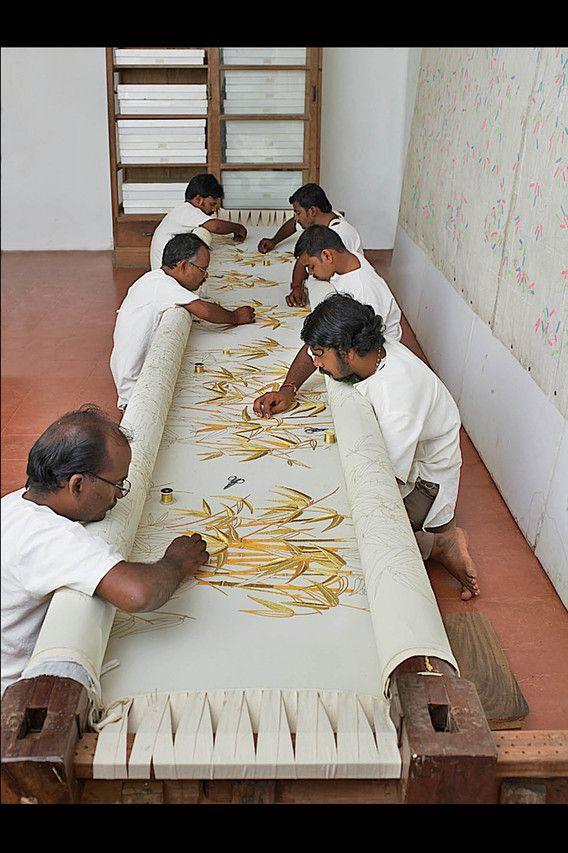 l'atelier Lesage en Inde