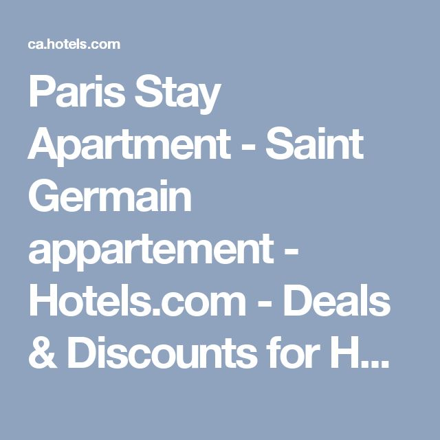 Paris Stay Apartment - Saint Germain appartement - Hotels.com - Deals & Discounts for Hotel Reservations from Luxury Hotels to Budget Accommodations