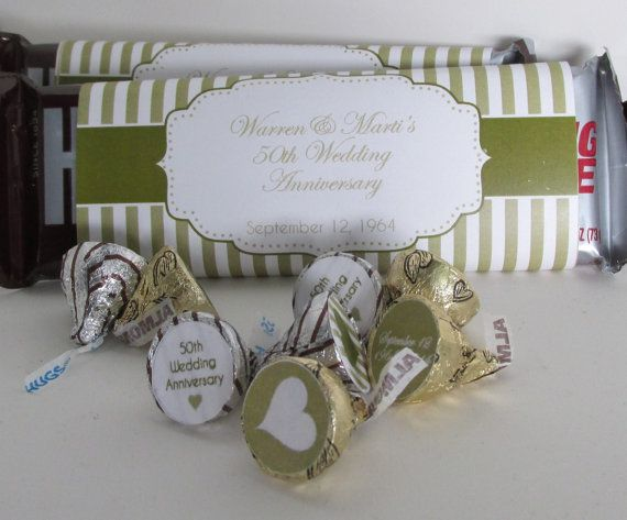 Gold   th White Wedd    and Wrappers Bar for Anniversary  buffet  and jacket biker Print   balenciaga Chocolate Wedding candy or favors Anniversary  Wedding White own your Chocolate   th