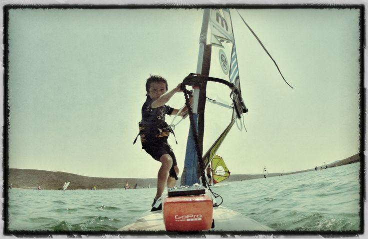 Kids on Board!.. #windsurf #alacati #kids #GoPro Edited with #Snapseed