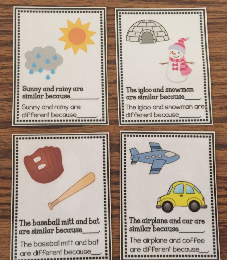 Building up Vocabulary Skills – Similarities and Differences - The Autism Helper