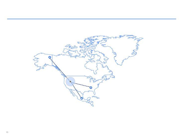 mapa interactivo de Norteamérica en ppt