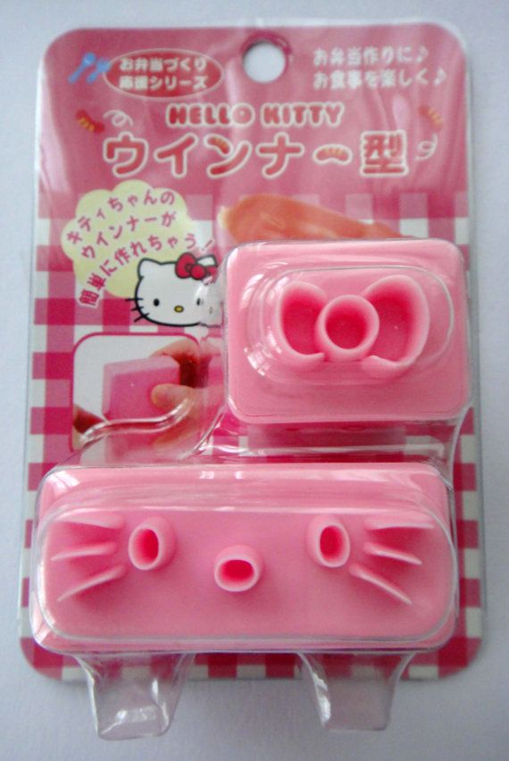 Sanrio Hello Kitty Sausage / Frankfurter / Cutters / Stamps / Molds / Moulds / Stencils To Make Cute Hello Kitty Sausages For Bento Lunches