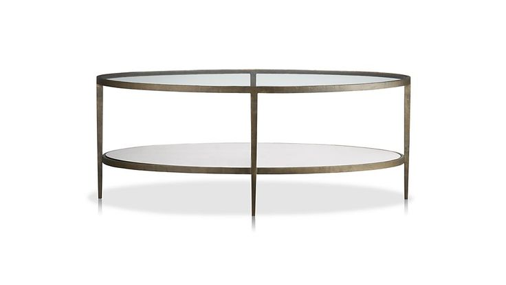 Clairemont Oval Coffee Table | Crate and Barrel