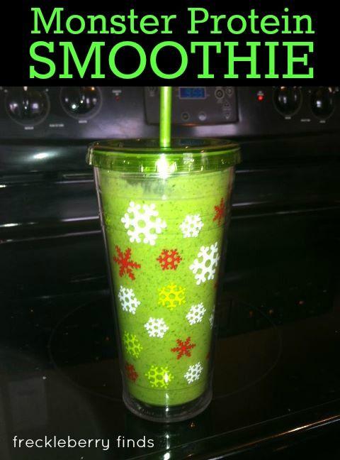 10g fiber, 21g protein. Mean Green Protein Machine Recipe.