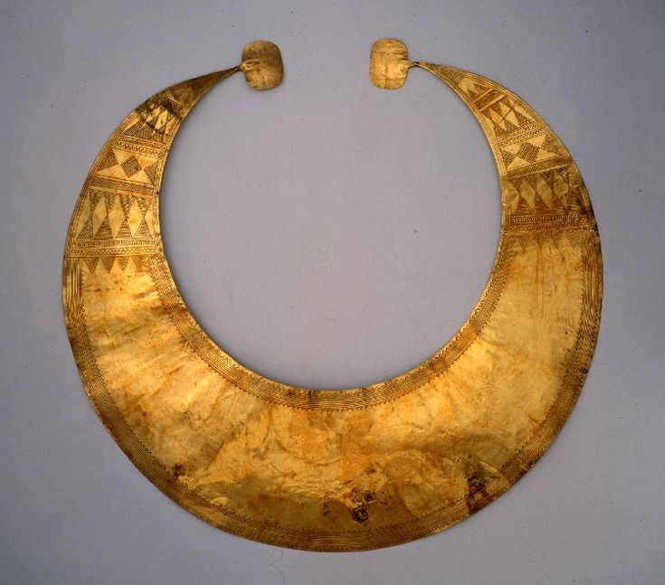 The Blessington lunula; lunula; Late Neolithic/Early Bronze Age; 2400BC-2000BC; Blessington