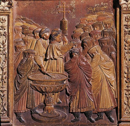 Bautizo forzado de moriscas, Capilla Real de Granada, 1500
