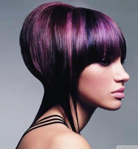 Violet Stacked Bob Hairstyle ❥❥❥ bestpickr.com/…