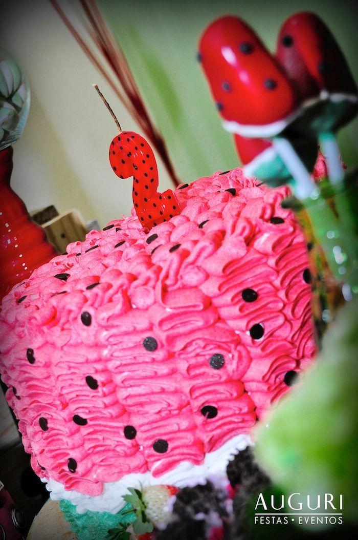 Watermelon themed birthday party via Kara's Party Ideas