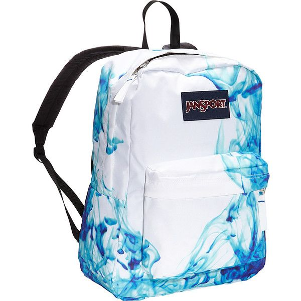 JanSport SuperBreak Backpack ($36) ❤ liked on Polyvore featuring bags, backpacks, blue, school & day hiking backpacks, jansport bags, blue backpack, rucksack bag, handle bag and padded bag