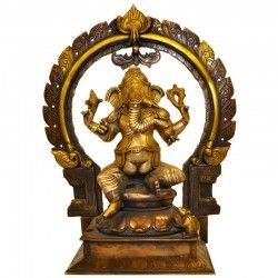 #Ganesh With #Prabhavali #Arch - Three Tone Pujasanskaram.com sells all kinds of puja idols of Hindu Gods.Brass, Wooden and Marble idols,statues,figurines of Hindu Gods and Goddesses are avaialable. Free delivery within India.Pleas contact us on India Tollfree Phone No.1800 3070 2866 +919845224503 (Between 8 A.M - 8 P.M Monday - Saturday) Online Chat Support E-mail to us jaiho@pujasanskaram.com