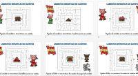 Actividades veraniegas Laberintos infantiles de cuentos  los tres cerditos