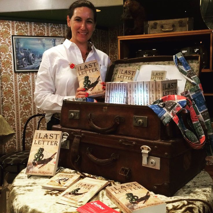 Me and my books at the @KiwiBookFeast in Wellington today. Thank you @nzbookcouncil for all your support. #grateful #author #booklaunch #TheLastLetter #FifteenPostcards #amwriting