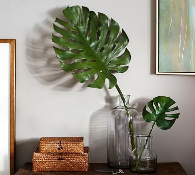 Faux Broad Leaf Palms #potterybarn